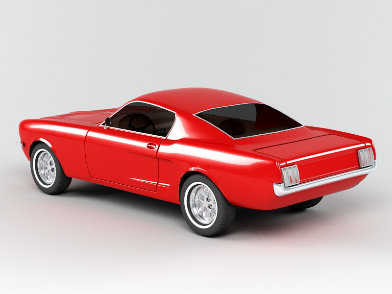 Ford Mustang 3d rendering