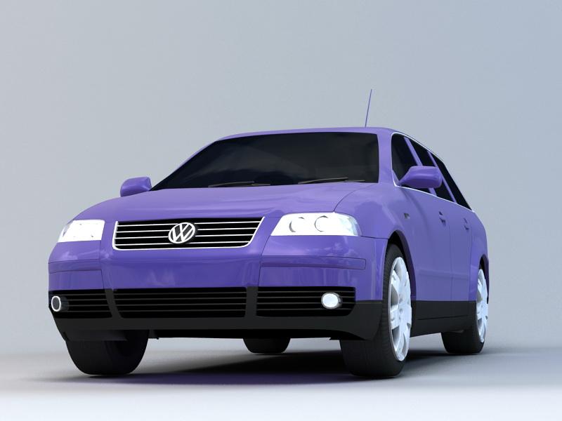 VW Passat Station Wagon 3d rendering