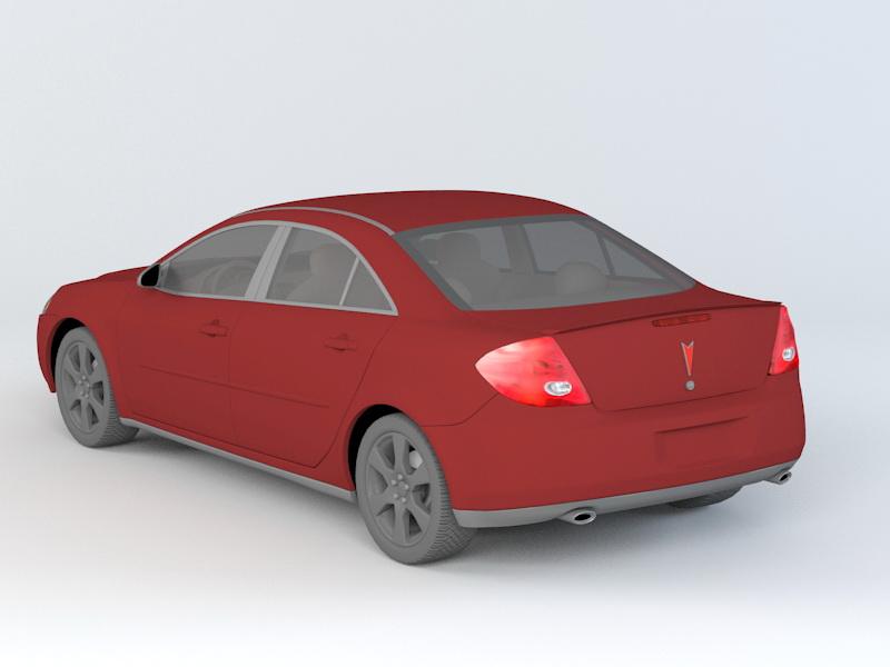 Pontiac G6 Sedan 3d rendering