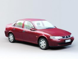 Red Sedan Car 3d preview