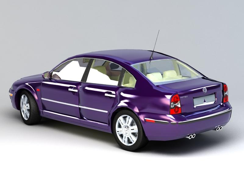 Volkswagen Passat Sedan 3d rendering
