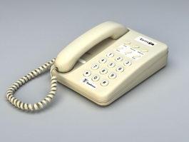 Basic Analog Telephone 3d model preview
