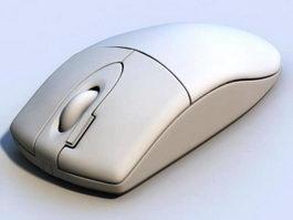Vintage White Computer Mouse 3d preview