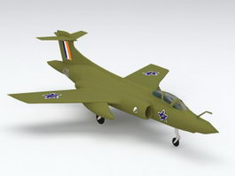 Blackburn Buccaneer Aircraft 3d preview