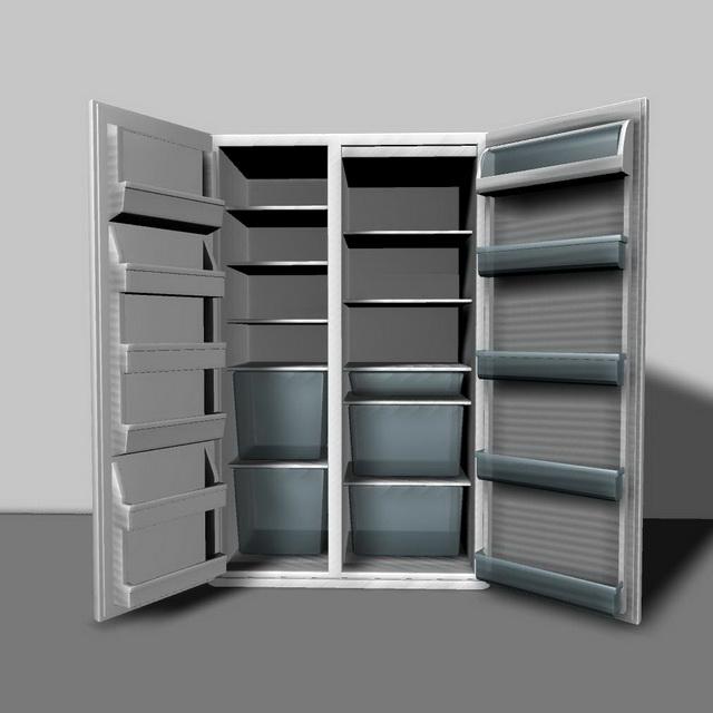 Large Refrigerator 3d rendering