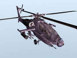AH-64 Apache Helicopter 3d preview