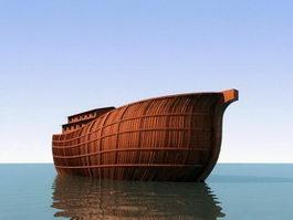 Noah Ark Ship 3d model preview