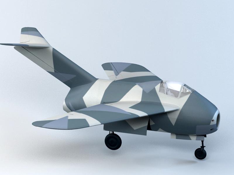 Ta-183 Fighter 3d rendering