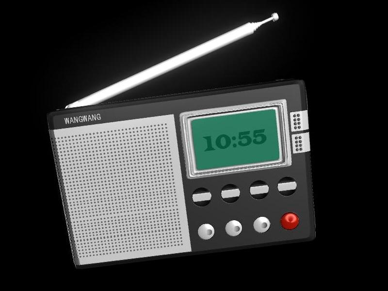 Mini Pocket Radio 3d rendering