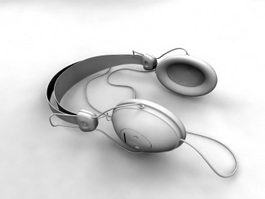 Wired Headphones 3d model preview