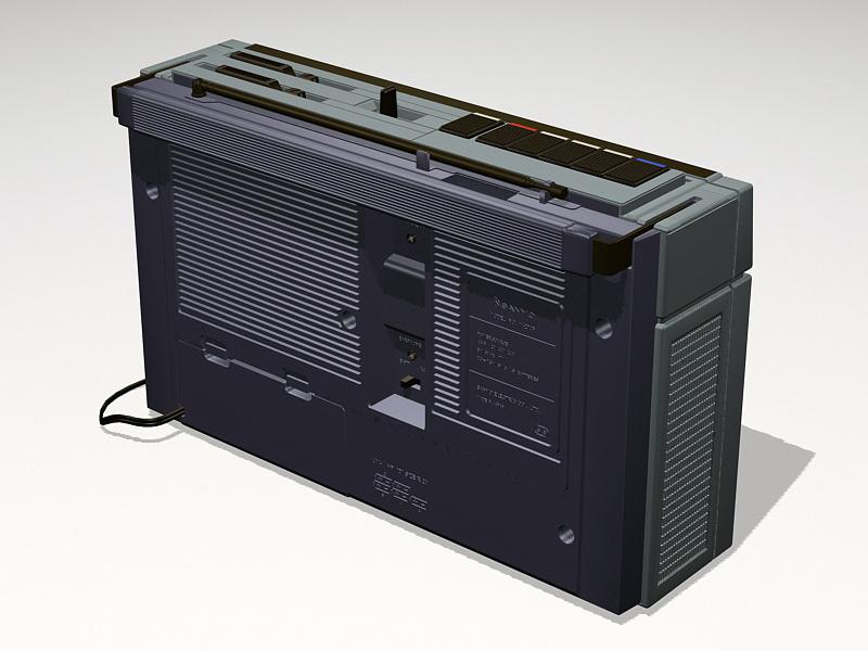 Boombox Radio Cassette Player 3d rendering