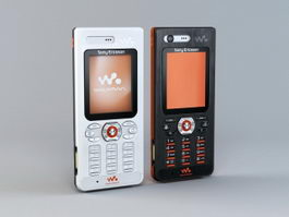 Sony Ericsson W888c 3d model preview