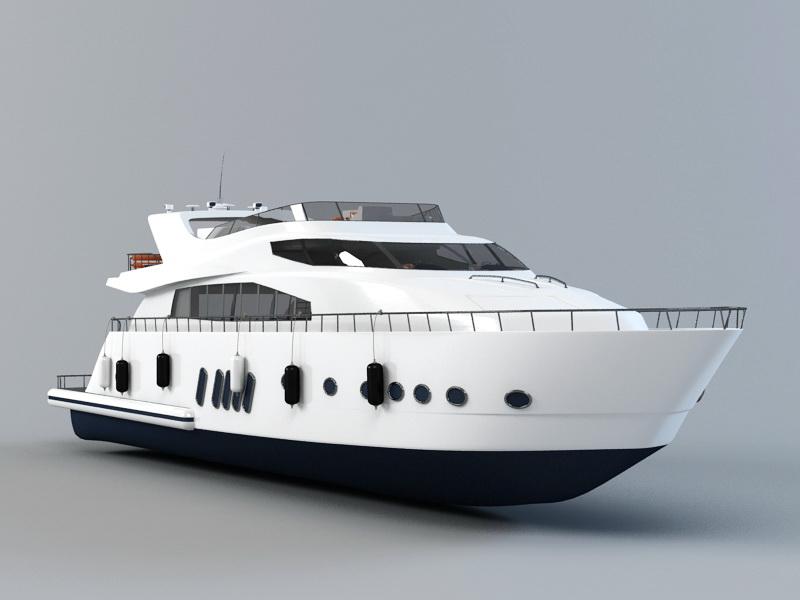 Exclusive Yacht 3d rendering