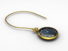 Gold Pocket Watch 3d preview