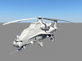Armed Helicopter 3d preview