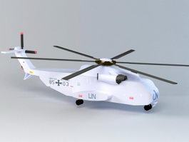 Low Poly Helicopter 3d model preview