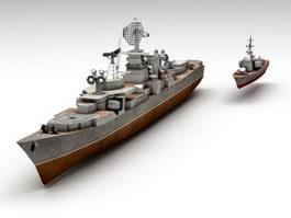 Kara-class Cruiser 3d model preview