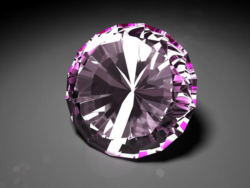 Pink Diamond 3d rendering