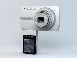 Olympus μ-820 Digital Camera 3d preview