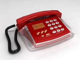 Red Telephone 3d model preview