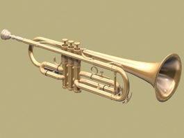Bass Trumpet 3d model preview