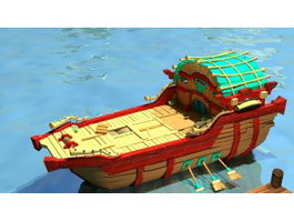 Anime Boat 3d preview