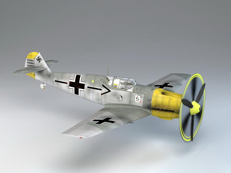 Me 109 Fighter 3d rendering