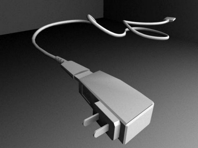 Cell Phone Travel Charger 3d rendering