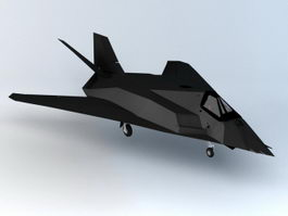 F-117 Nighthawk Stealth Fighter 3d model preview