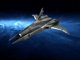 Batwing Sci-Fi Ship 3d preview