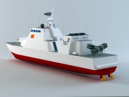 Missile Patrol Boat 3d model preview