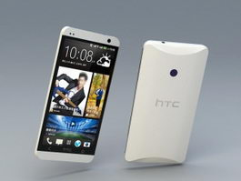 HTC One Smartphone 3d model preview