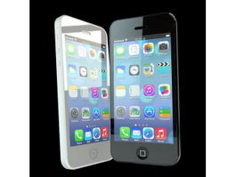 iPhone 5 in Black and White 3d preview