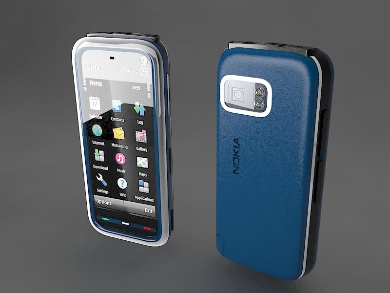 Nokia 5800 XpressMusic 3d rendering
