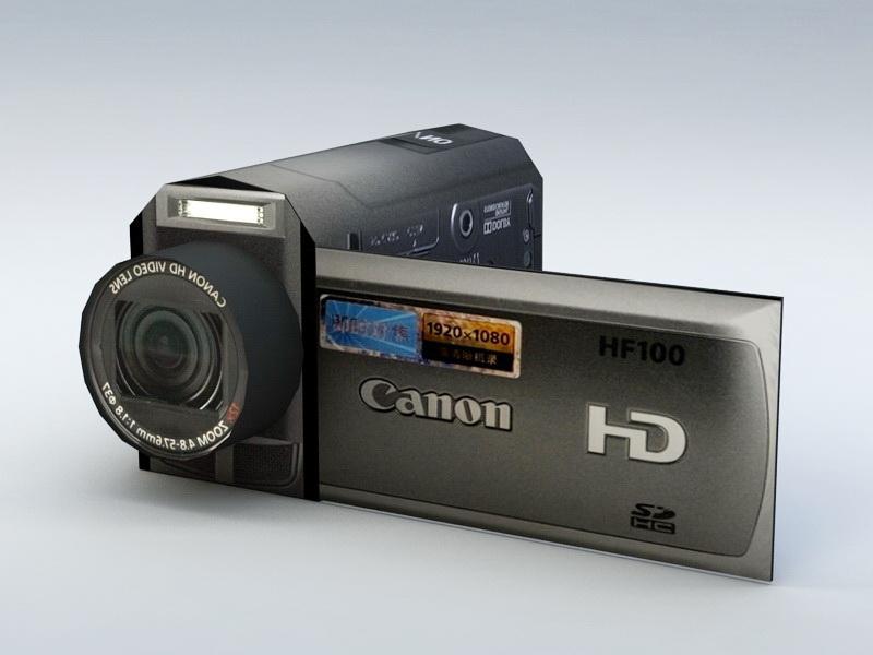 Canon Camera DV 3d rendering
