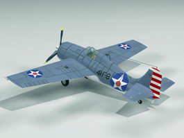 F4F Wildcat Fighter Aircraft 3d preview