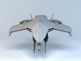 Futuristic Starfighter 3d preview