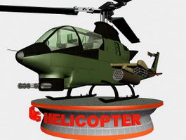 Attack Helicopter 3d preview