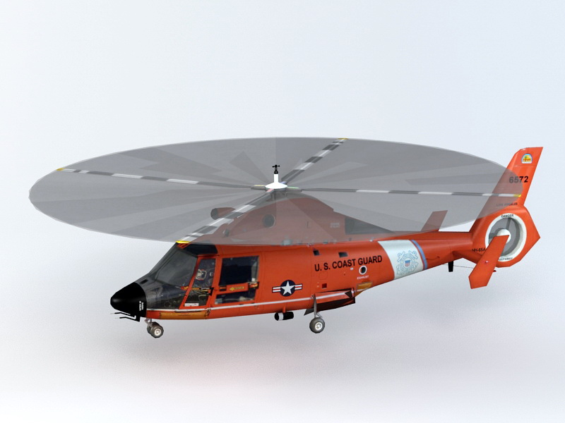 SA 365 Dauphin Utility Helicopter 3d rendering