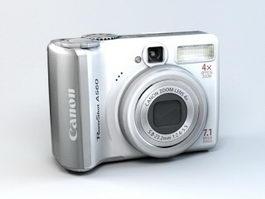 Canon PowerShot A560 3d preview