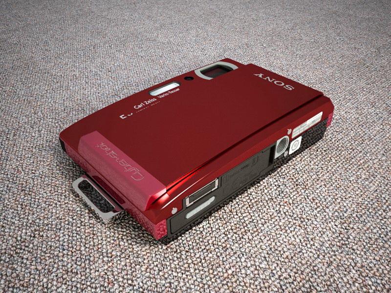 Sony CyberShot T300 Camera 3d rendering