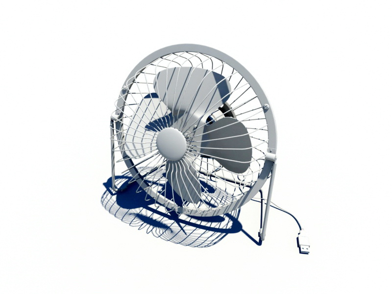 High-Velocity Floor Fan 3d rendering