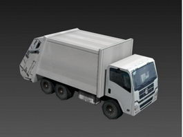 Garbage Truck Low Poly 3d preview