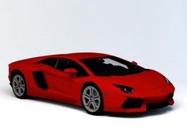 Lamborghini Aventador 3d model preview