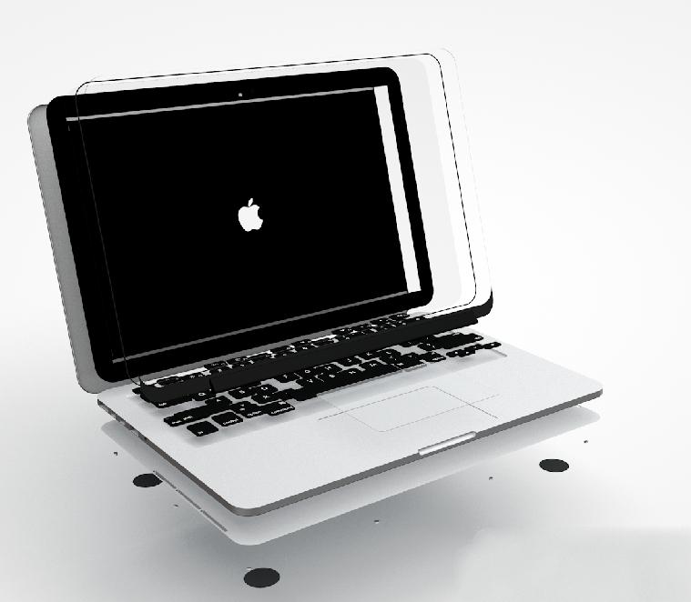 MacBook Pro 3d rendering