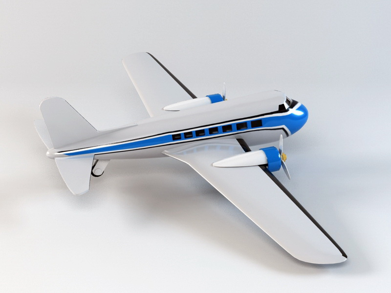 Toy Airplane 3d rendering