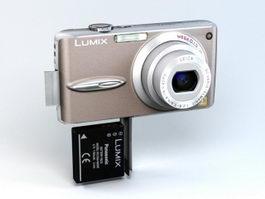 Panasonic Lumix DMC-FX30 Camera 3d model preview