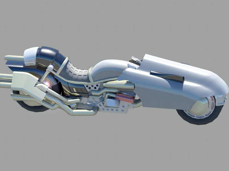 Sci Fi Motorcycle 3d rendering