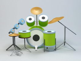 Drum Set 3d preview