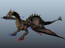 Wyvern Dragon Rig 3d preview